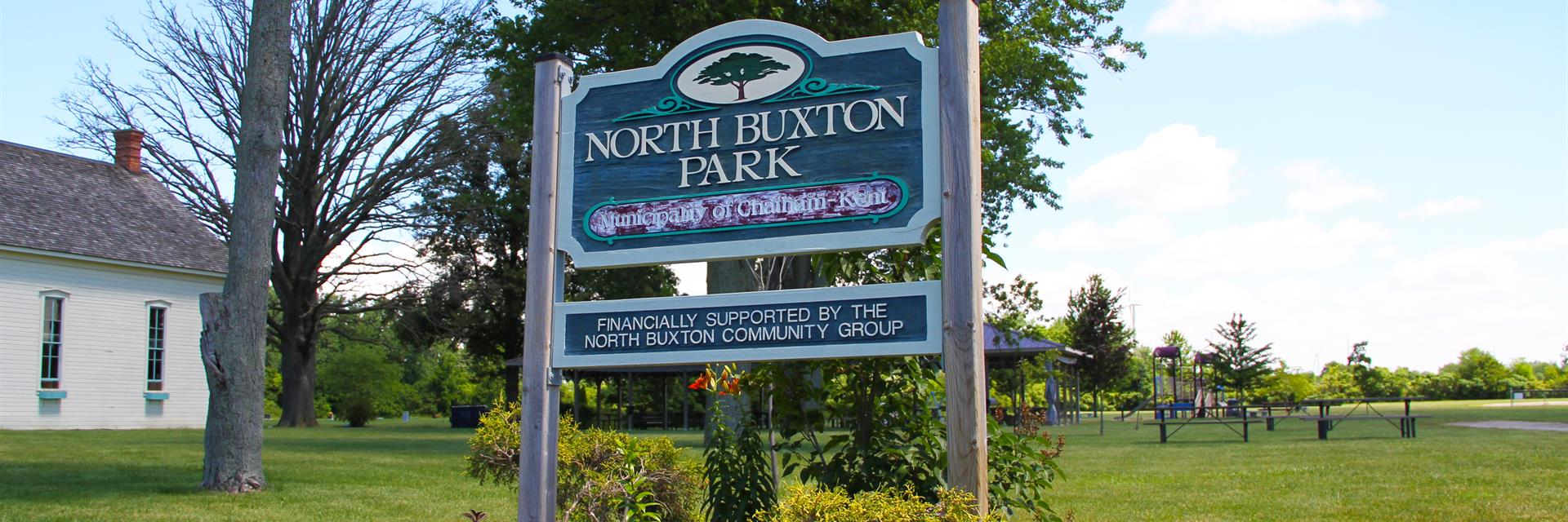 North Buxton - Sign