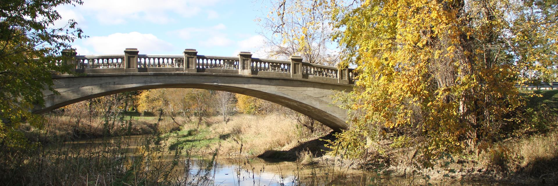 A bridge over a creek in Chatham-Kent